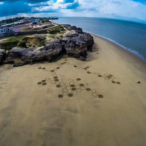 Beach art alvéoles