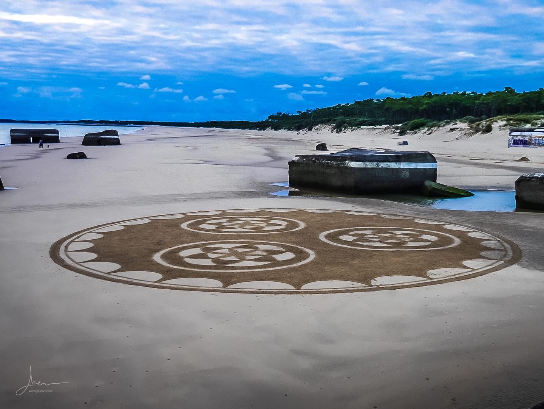 Beach art mandala
