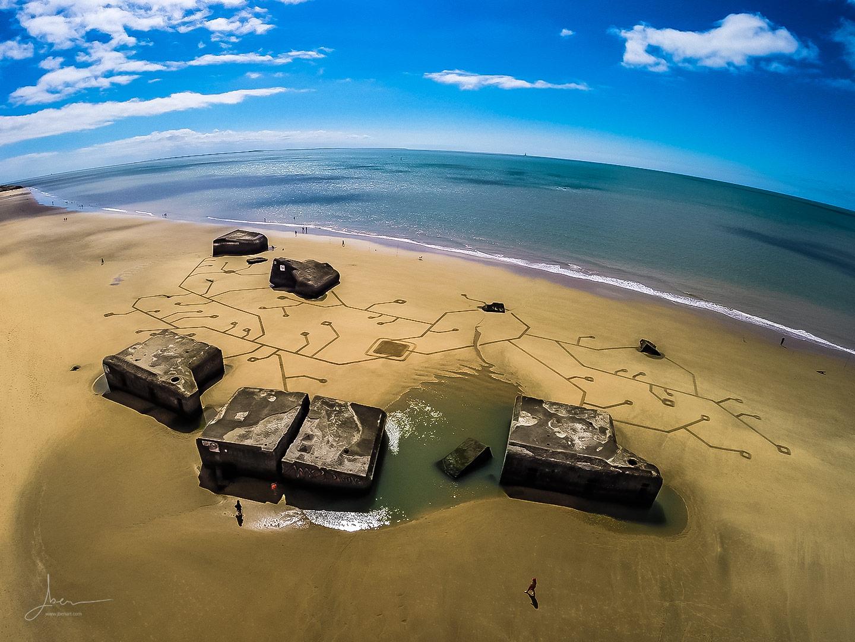 Beach art circuits imprimés