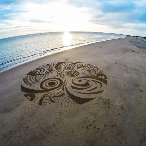 Beach art cercles en fête