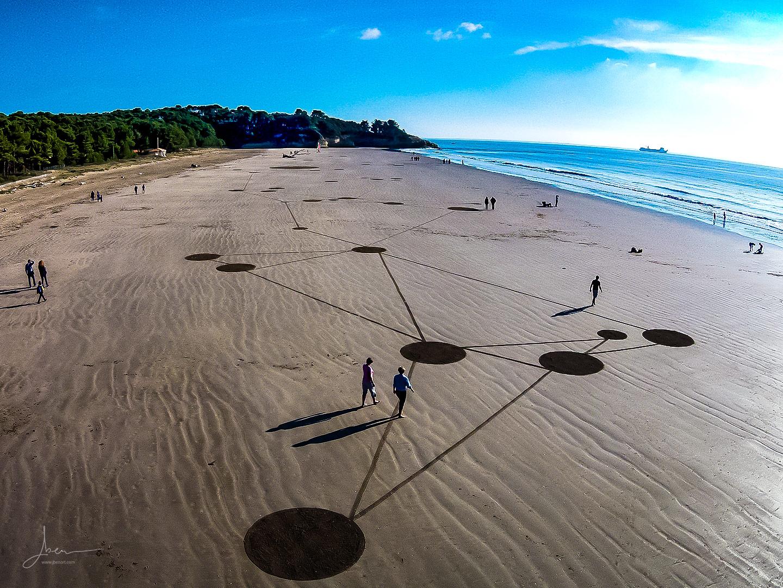 Beach art constellation