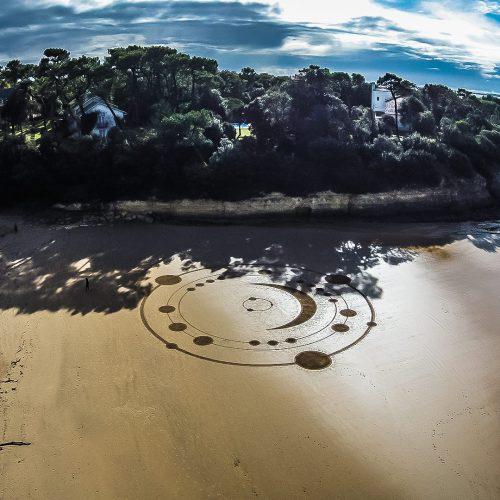 Beach art système lunaire