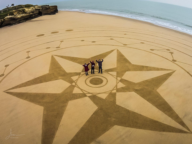 Beach art étoiles