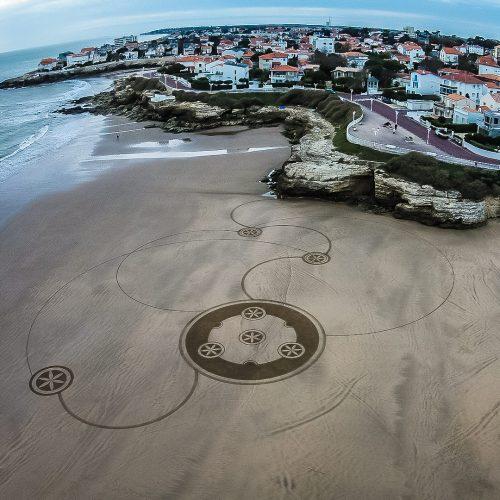 Beach art mandala filant
