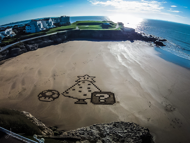 Beach art mario bros