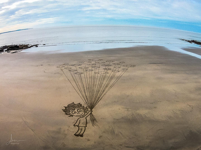 Beach art libre comme l'air
