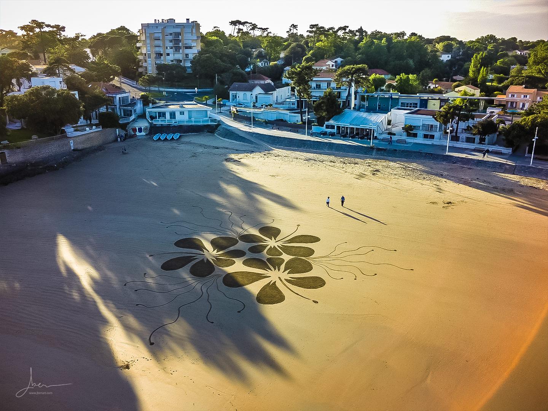 Beach art Ibiscus