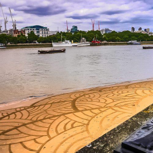 Beach art tapisserie Londonienne