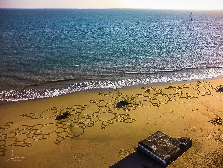 Beach art Bubulles