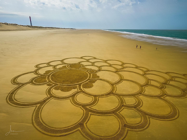 Beach art comète cosmique