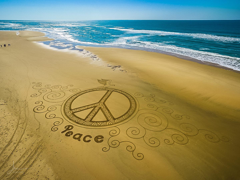 Beach art jour de la paix
