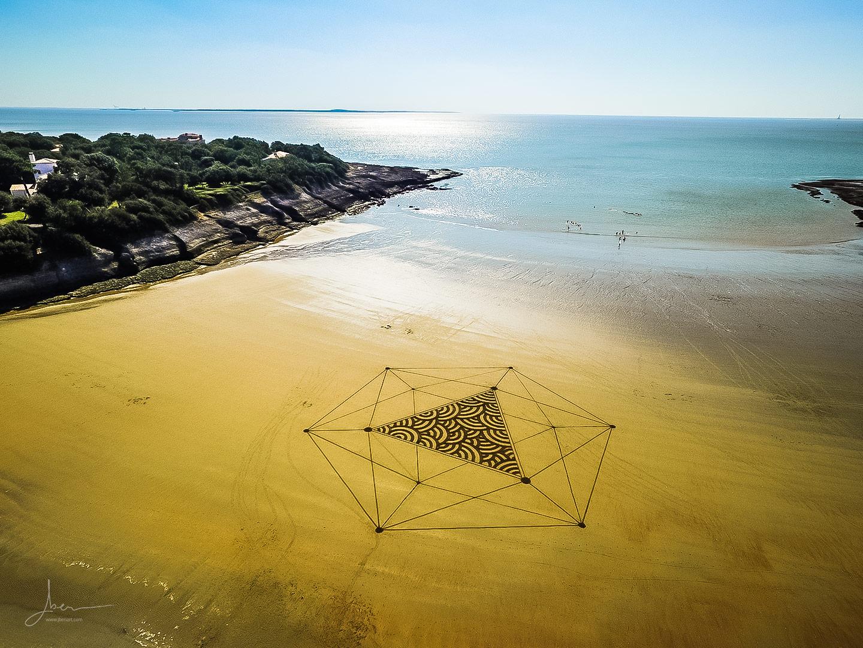 Beach art textures et profondeurs