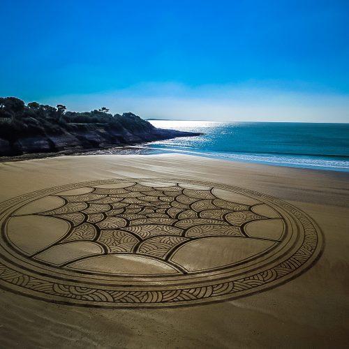Beach art cercles et textures