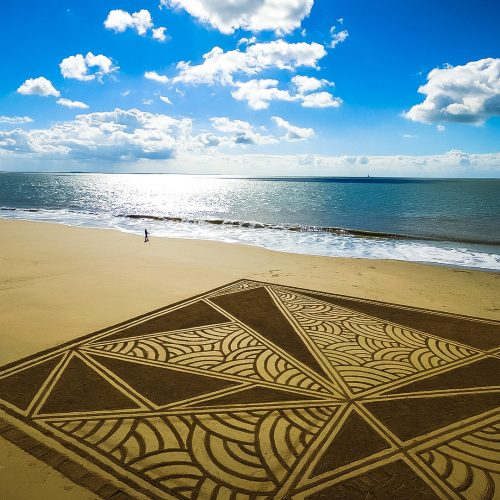 Beach art textures rectangulaires