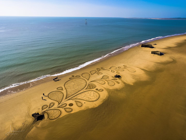 Beach art splash textures