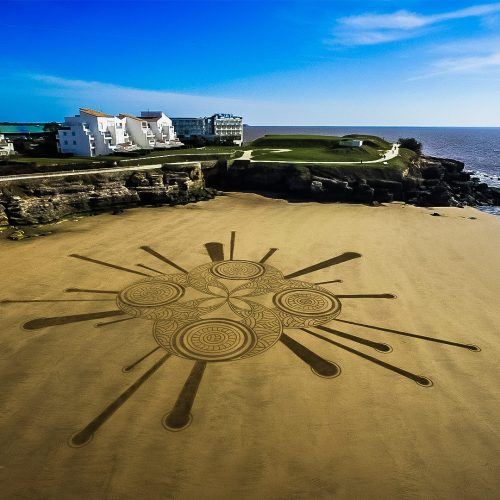 Beach art entre cercles
