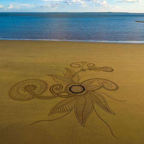 Beach art in between