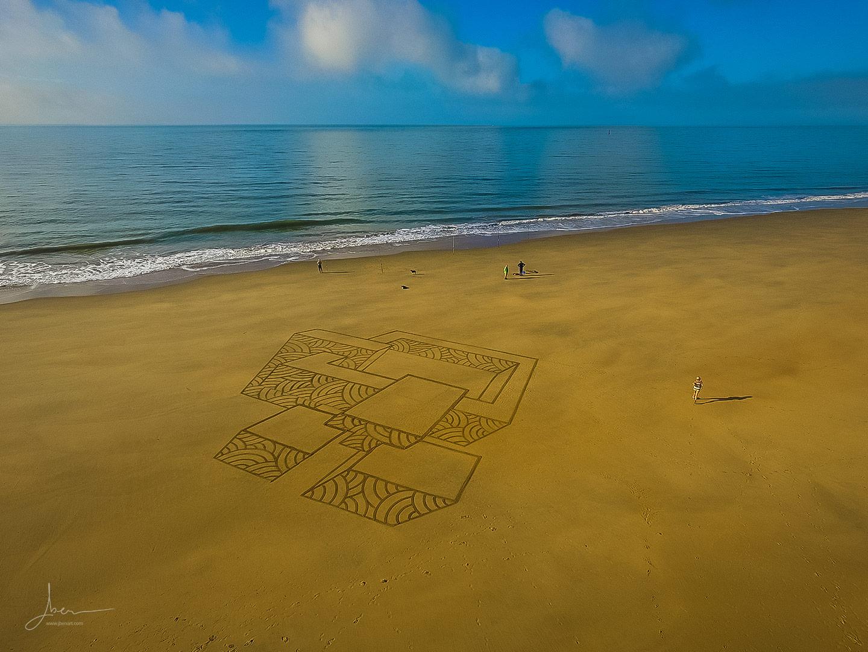 Beach art en perspective