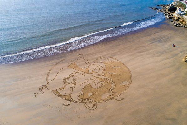 Beach Art Kraken