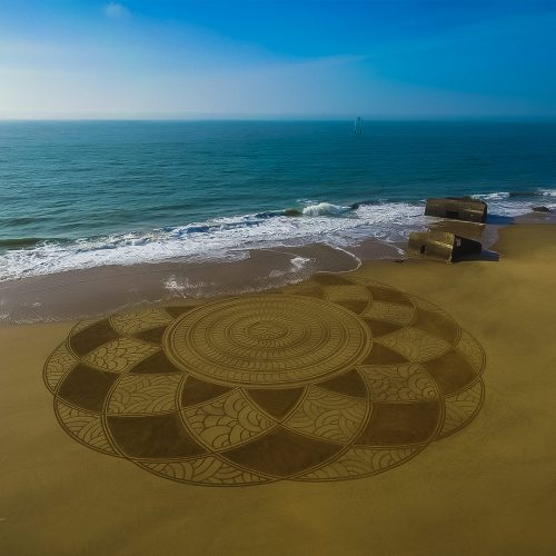 Beach art twelve textures