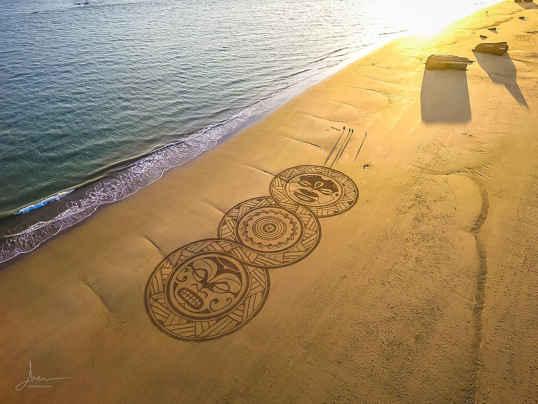 Beach art triple poly