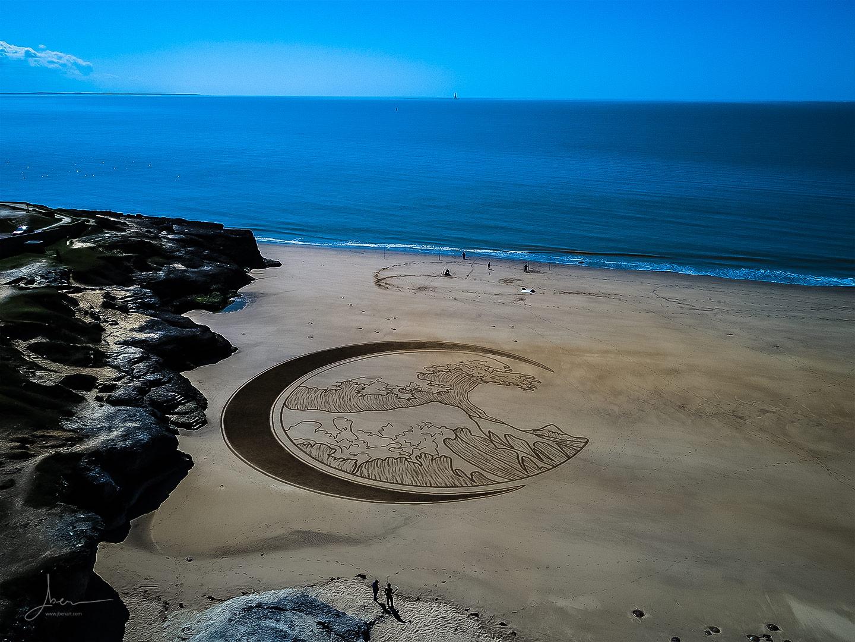 Beach art kanagawa Wave