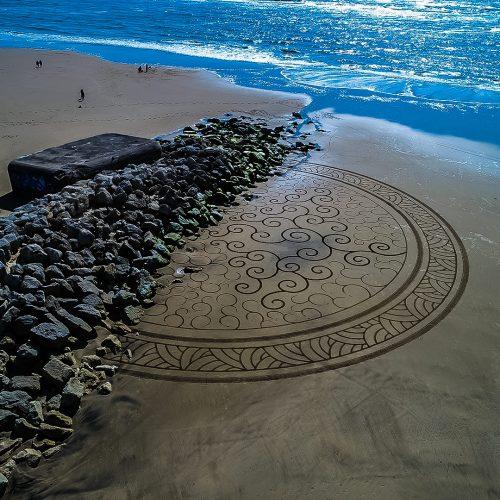 Beach art half circle