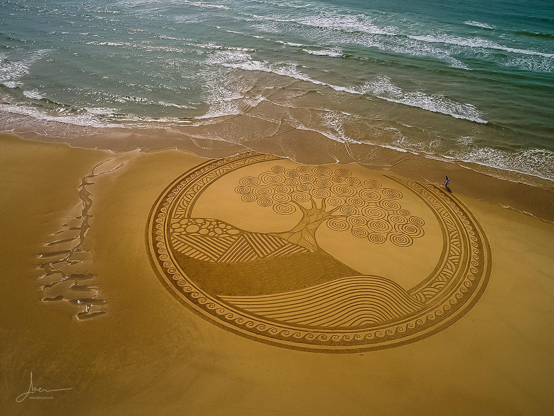 beach art arbre ziguigui
