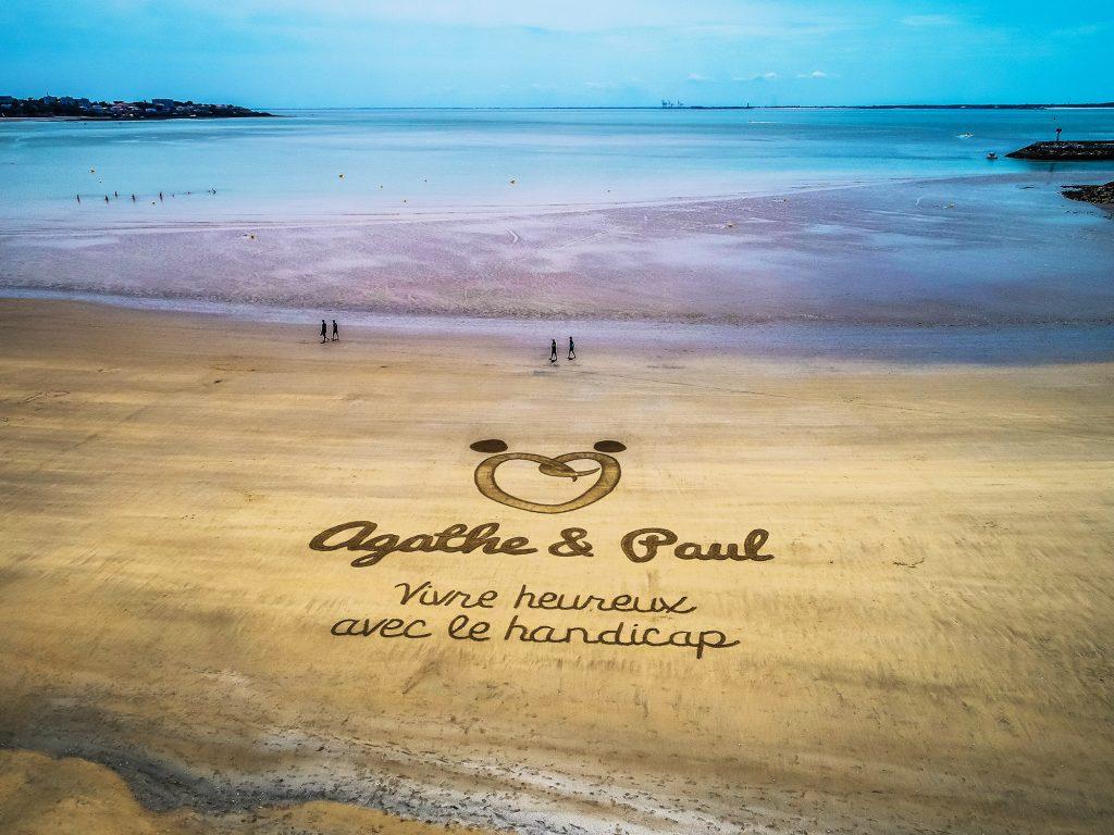 Beach Art Agathe et Paul