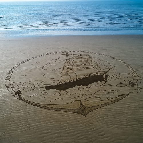 beach art 3 mâts