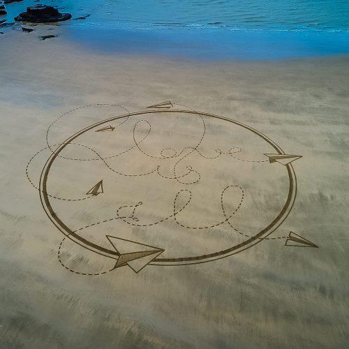 beach art love is all