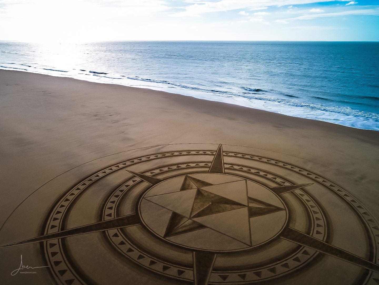 Beach art Etoilus Pyramidus
