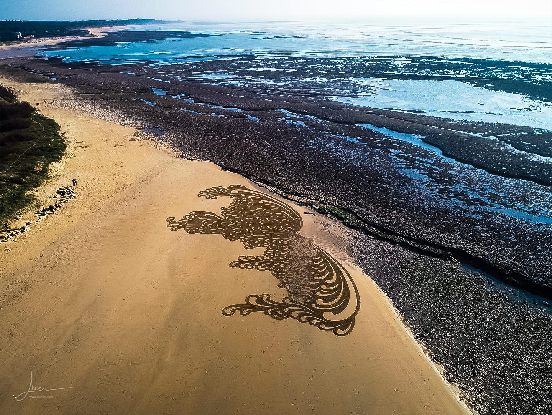 Beach art virgules splash