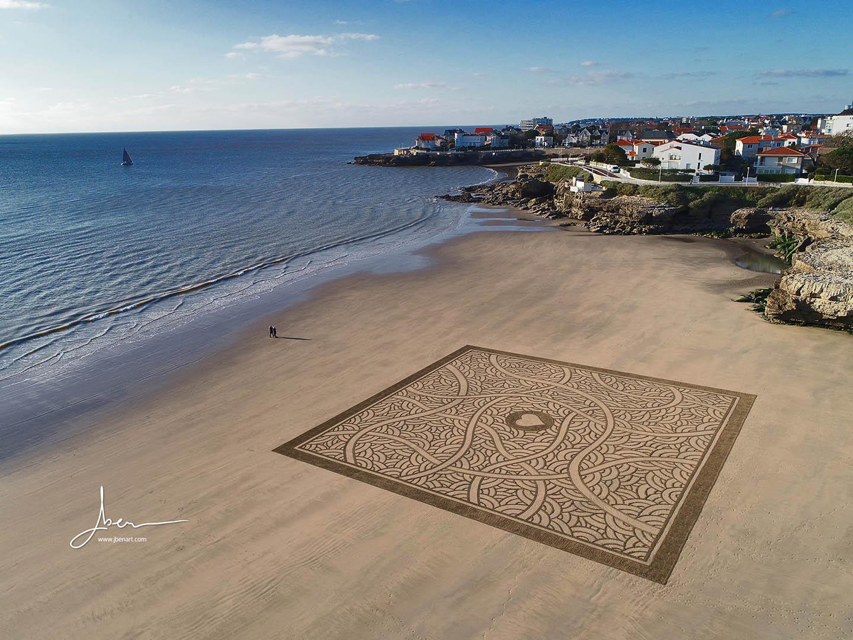 Beach art sideways