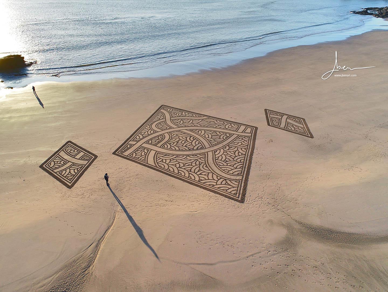 Beach art Triptyque