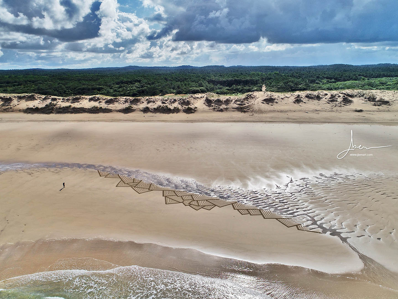 Beach art triangles des sables