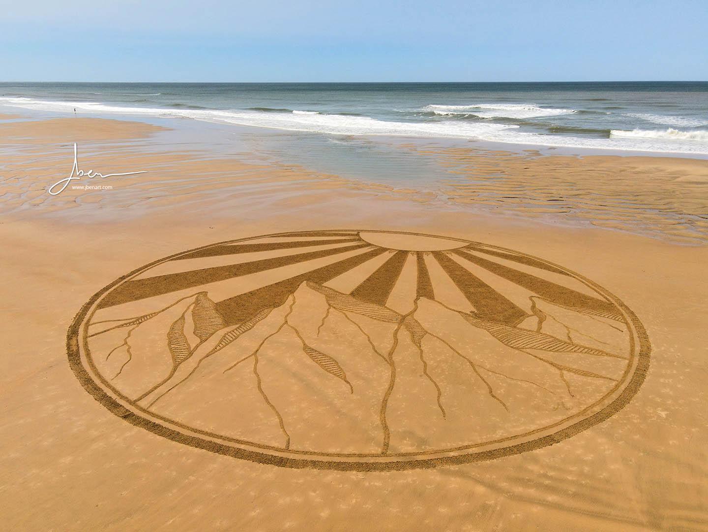 Beach art montagnes du soleil