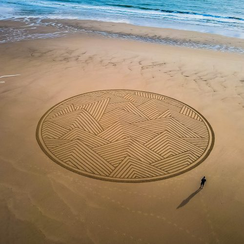 Beach art mezmerise circles
