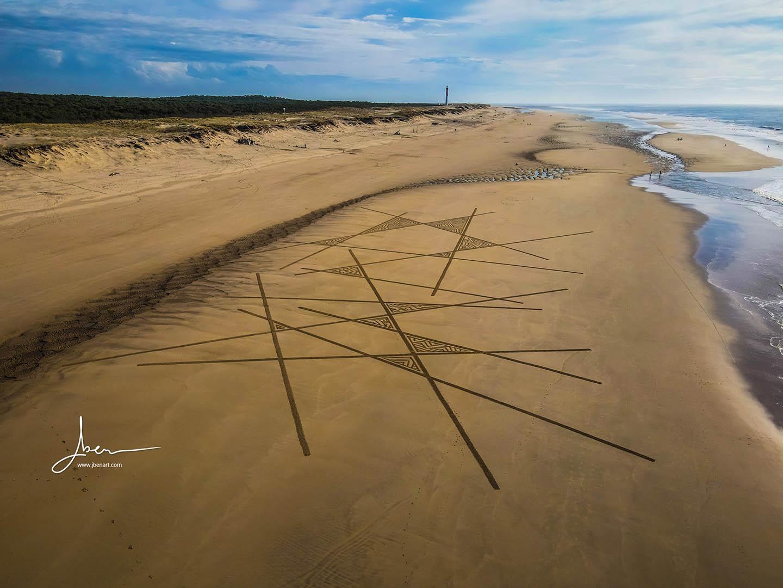 Beach art croisillons