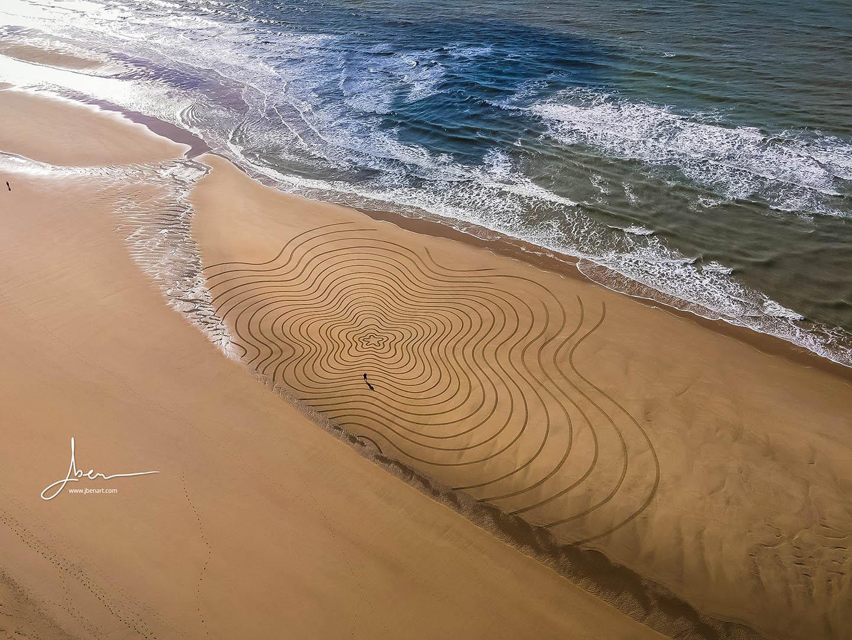 Beach art Trèfle Strates