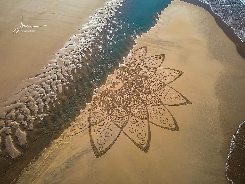 Beach art Mimandala
