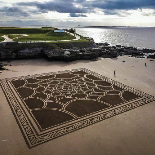 Beach art circles pleins