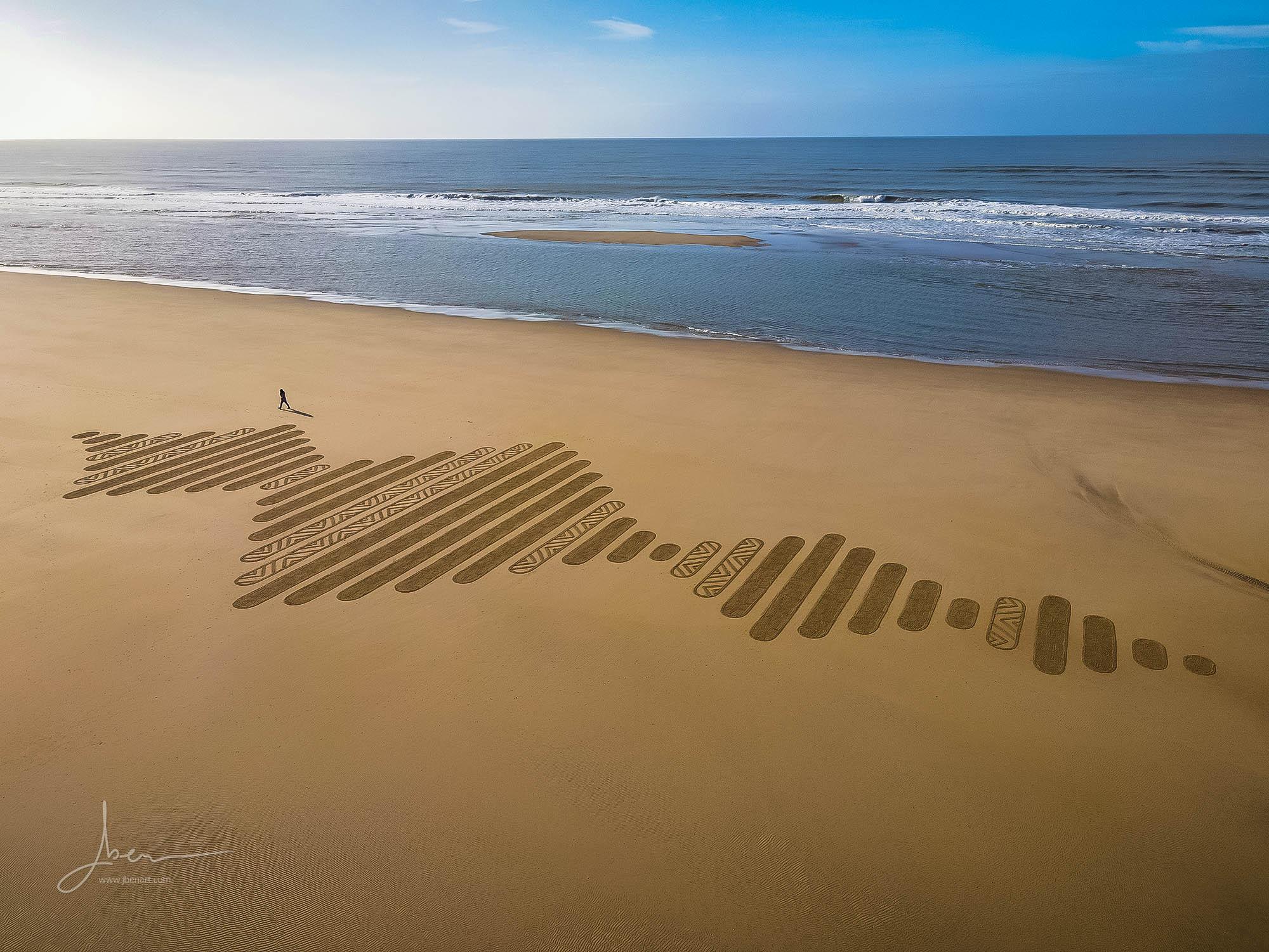 Beach art ondes sonores