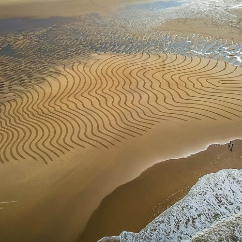 Beach art strates empreintes