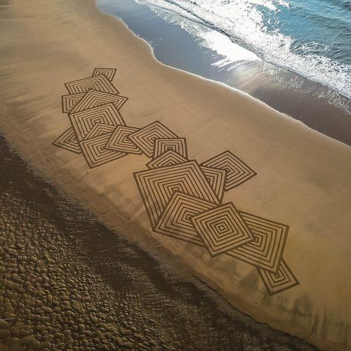 Beach art carrés des sables