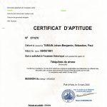 Certificat aptitude Drone