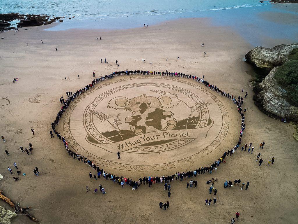 Beach art pour l'australie