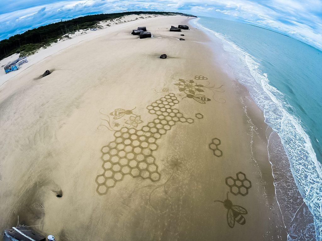 Beach art Un Toit Pour Les Abeilles